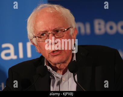 MIAMI, FL - NOVEMBER 19: Bernie Sanders attends the Miami Book Fair held at Miami Dade College on November 19, 2016 - Stock Photo