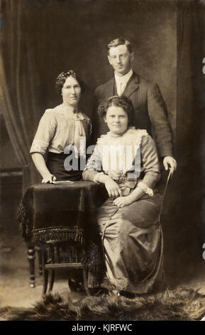 Historical carte de visites in sepia and black and white with a few Tintypes of personal family heritage in print - Stock Photo