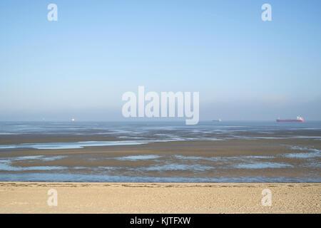 Lower Saxon Wadden Sea National Park near Cuxhaven/ Germany - Stock Photo