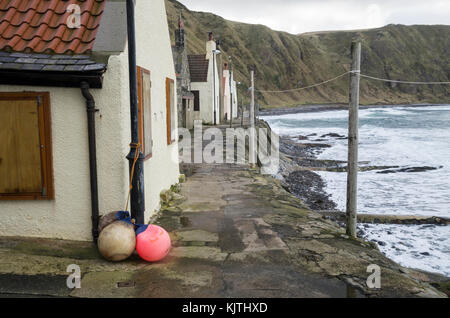 Small fishing village of Crovie, Abereenshire, Scotland, Great Britain - Stock Photo