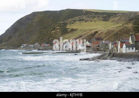 Small fishing village of Crovie, Abereenshire, Scotland, Great Britain - Stock Photo