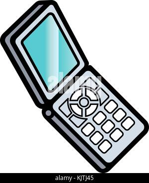 Mobile phone linear icon - Stock Photo