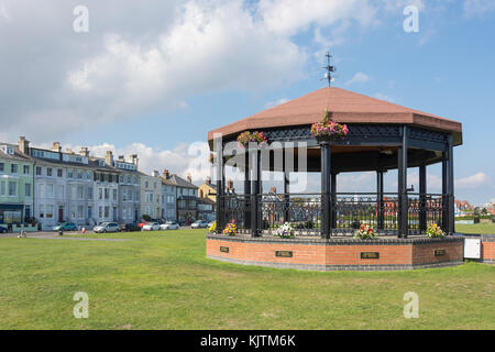 The Deal Memorial Bandstand, The Strand, Walmer, Deal, Kent, England, United Kingdom - Stock Photo