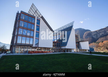 The MUSE is the Museum of Science in Trento designed by Italian architect Renzo Piano. - Stock Photo