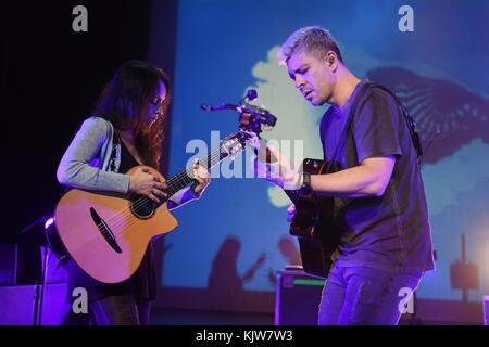 Miami Beach, FL, USA. 25th Nov, 2017. Rodrigo y Gabriela perform at the Fillmore on November 25, 2017 in Miami Beach, - Stock Photo