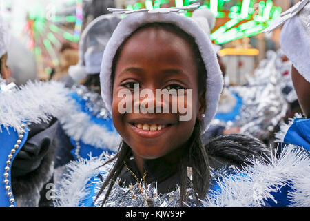 Glasgow, UK. 26th Nov, 2017. 'Glasgow Loves Christmas' annual street carnival is a multicultural, community based - Stock Photo