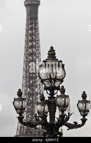 Ornate Paris street light - Stock Photo