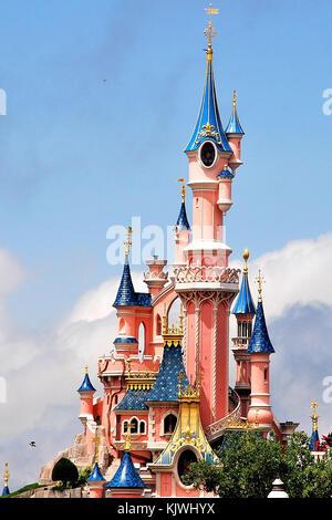 Disney Castle, Marne-la-Vallée, Paris, France - Stock Photo