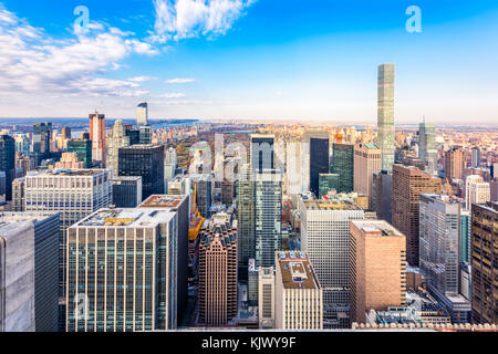 New York, New York, USA cityscape in Manhattan. - Stock Photo