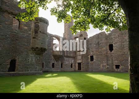 Earl's Palace ruins, Kirkwall, Orkney - Stock Photo