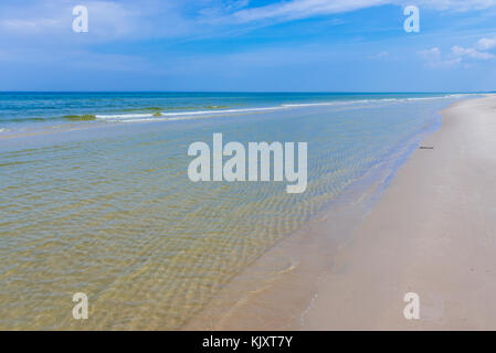 Baltic Sea seen from strict protection area of Slowinski National Park in Pomeranian Voivodeship, Poland - Stock Photo