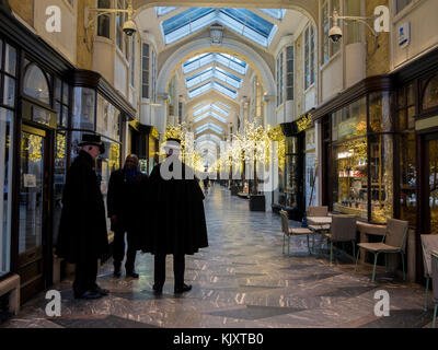 The world's first covered Mall - Burlington Arcade at Christmas time - Stock Photo