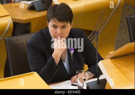 Politicians attend Scottish First Minister's Questions at Holyrood in Edinburgh.  Featuring: Ruth Davidson Where: - Stock Photo