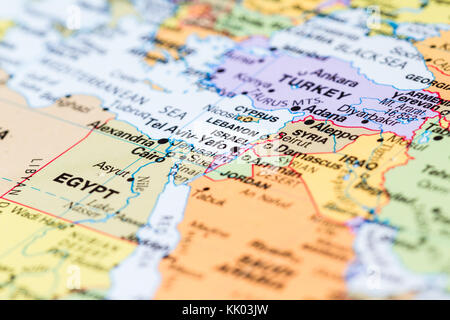 Close up map of israel and tel aviv stock photo royalty free selective focus close up of a world map with the country of israel in focus stock photo gumiabroncs Choice Image