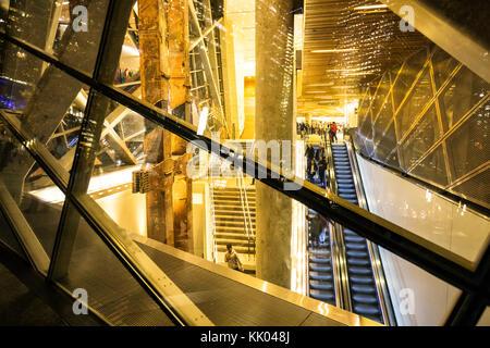 National September 11 Memorial Museum at night, New York City