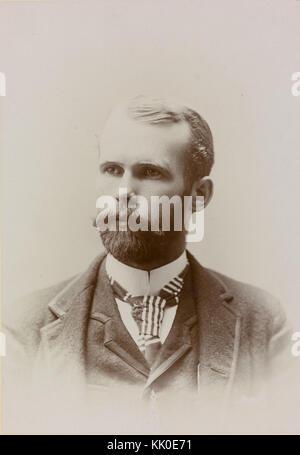 Portrett av fotograf Anders Beer Wilse, ca. 1892   no nb digifoto 20160125 00132 blds 07338 (cropped) - Stock Photo