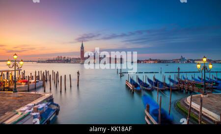 Venice Panorama. Panoramic cityscape image of Venice, Italy during sunrise. - Stock Photo