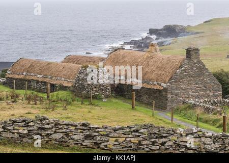 Shetland Crofthouse Museum, Boddam, Dunrossness, Shetland Islands, Scotland, UK - Stock Photo