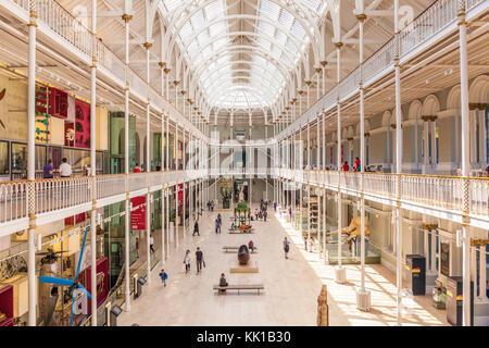 Edinburgh Scotland Edinburgh The Grand Gallery of the former Royal Museum National Museum of Scotland Edinburgh, - Stock Photo