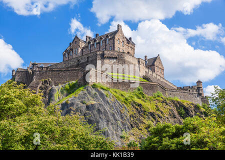 Edinburgh Castle scotland castle edinburgh scottish castle edinburgh  Old Town Edinburgh Midlothian Scotland UK - Stock Photo