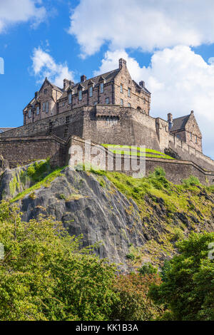 Edinburgh Castle scotland castle edinburgh scottish castle edinburgh  Old Town Edinburgh Midlothian Scotland UK - Stock Photo