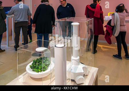 Patin, autonomous and adaptive domestic robot at exposition about robotics and artificial intelligence / AI - Stock Photo