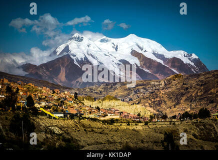 Photo taken in August 2017 in La Paz Bolivia, South America: - Stock Photo