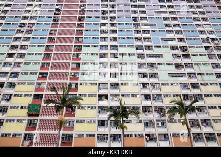 Choi Hung Estate in Hong Kong China - Stock Photo
