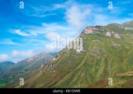 View from Mirador de Covalruyu, Miera Valley, Valles Pasiegos, Cantabria, Spain, Europe