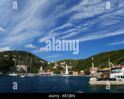 Kioni, Ithaca, Greece. - Stock Photo