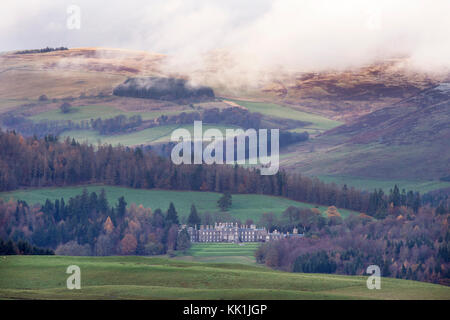 Bowhill House, Bowhill estate, Selkirk, Scottish Borders, Scotland. - Stock Photo