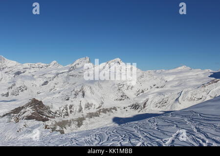 Swiss Alps in early Winter - Stock Photo