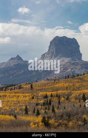 Chief Mountain, Glacier National Park, Montana - Stock Photo