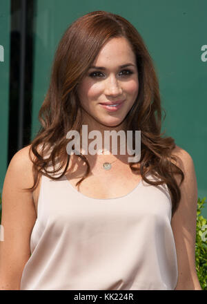 Meghan Markle attends the USA Network's 2012 Upfront Event at Alice Tully Hall on May 17, 2012 in New York City. - Stock Photo