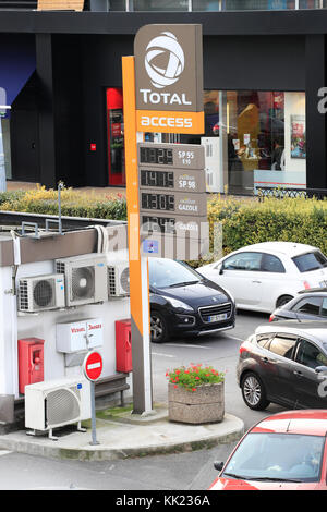 Total gas station. France - Stock Photo