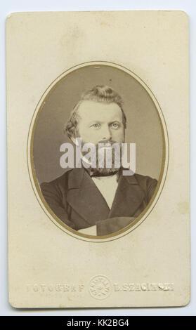 Visittkortportrett Johannes Wilhelm Christian Steen   SAS1982 19 006 - Stock Photo