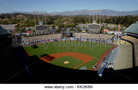 Los Angeles, California, USA. 22nd Oct, 2017. Los Angeles Dodgers' workout prior to the upcoming World Series on - Stock Photo