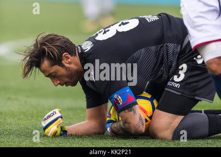 Bologna, Italy. 25th Nov, 2017. Antonio Mirante (Bologna) Football/Soccer : Italian 'Serie A' match between Bologna FC 3-0 UC Sampdoria at Stadio Renato Dall'Ara in Bologna, Italy . Credit: Maurizio Borsari/AFLO/Alamy Live News Stock Photo