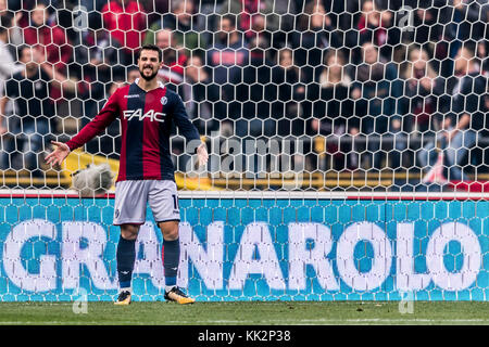 Bologna, Italy. 25th Nov, 2017. Mattia Destro (Bologna) Football/Soccer : Italian 'Serie A' match between Bologna FC 3-0 UC Sampdoria at Stadio Renato Dall'Ara in Bologna, Italy . Credit: Maurizio Borsari/AFLO/Alamy Live News Stock Photo