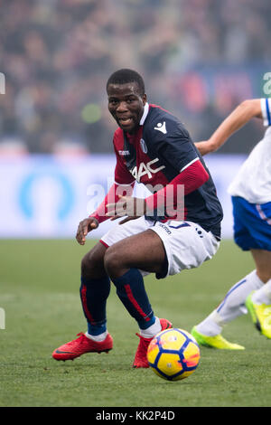 Bologna, Italy. 25th Nov, 2017. Godfred Donsah (Bologna) Football/Soccer : Italian 'Serie A' match between Bologna FC 3-0 UC Sampdoria at Stadio Renato Dall'Ara in Bologna, Italy . Credit: Maurizio Borsari/AFLO/Alamy Live News Stock Photo