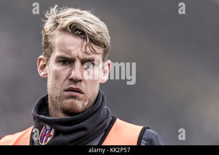 Bologna, Italy. 25th Nov, 2017. Filip Helander (Bologna) Football/Soccer : Italian 'Serie A' match between Bologna FC 3-0 UC Sampdoria at Stadio Renato Dall'Ara in Bologna, Italy . Credit: Maurizio Borsari/AFLO/Alamy Live News Stock Photo