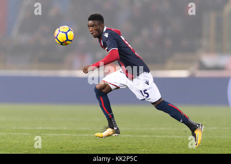 Bologna, Italy. 25th Nov, 2017. Ibrahima Mbaye (Bologna) Football/Soccer : Italian 'Serie A' match between Bologna FC 3-0 UC Sampdoria at Stadio Renato Dall'Ara in Bologna, Italy . Credit: Maurizio Borsari/AFLO/Alamy Live News Stock Photo