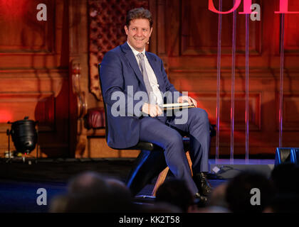 London, UK. 27th Nov, 2017. The Spectator Editor Fraser Nelson during a panel discussion at the Emmanuel Centre, - Stock Photo