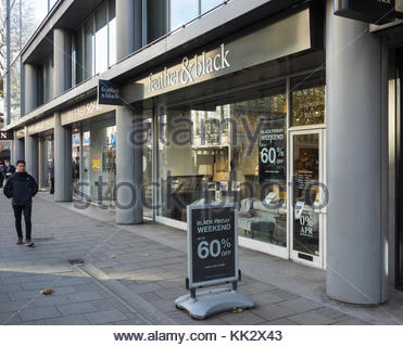 London, England, UK. 28th Nov, 2017. High street furniture retailer Feather & Black, which has more than 25 shops - Stock Photo