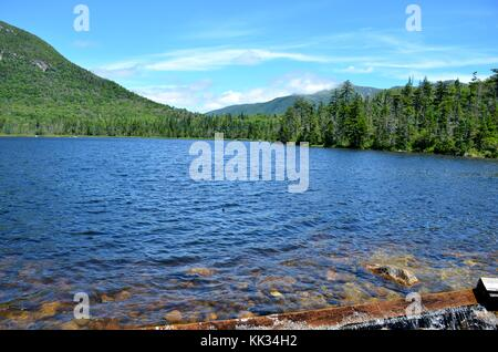 Lake in front of mountains