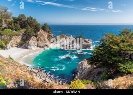 Pacific Ocean beach in Califirnia - Stock Photo