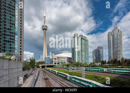 Toronto Skyline with the CN Tower - Stock Photo