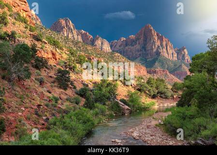 Beautiful landscape of Zion National Park - Stock Photo