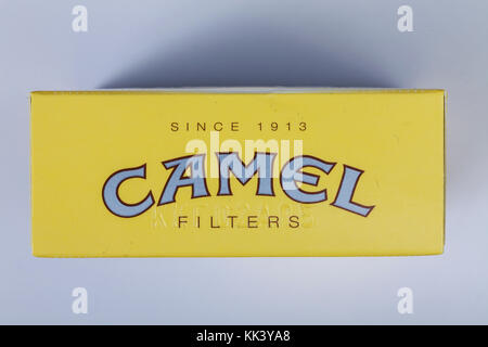 Camel cigarette packaging - Stock Photo