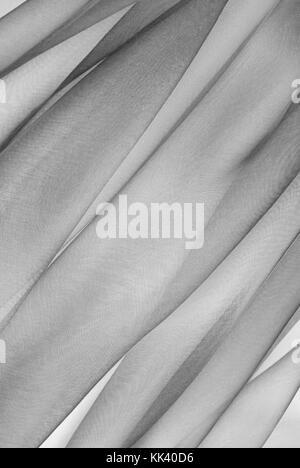 organza fabric in grey color - Stock Photo